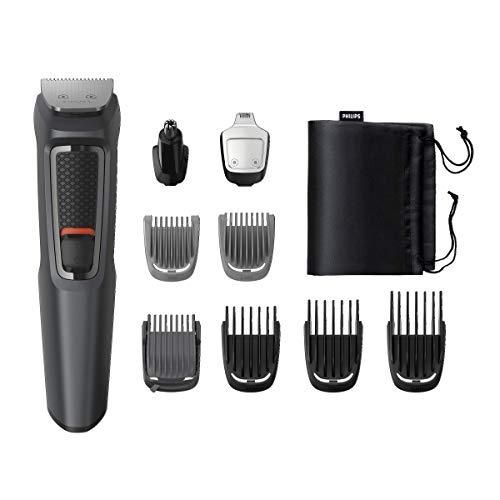 Kit de limpieza Philips serie 3000 MG3757 / 15 Talla de pelo, recortador de barba para hombre, recortador de bigote / nariz / oreja, 9IN1
