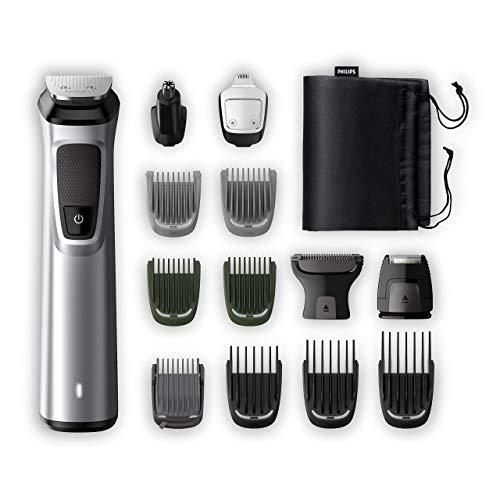Philips Grooming Kit 7000 series MG7720 / 18 Talla para cabellos, recortadora de barba para hombre, recortadora para el cuerpo / nariz / orejas, Premium, 14in1