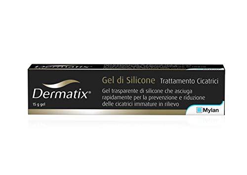 Gel de silicona transparente Dermatix, para la prevención y reducción de cicatrices, dolor, picor y enrojecimiento, tubo de 15 ml