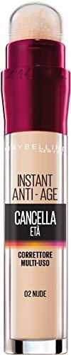 Corrector líquido Maybelline New York Clearing Age, con bayas de Goji y haloxil, tapa círculos oscuros y pequeñas arrugas, 02 desnudo, 6,8 ml