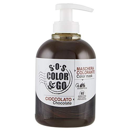 SOS COLOR & GO Máscara reflectante y revitalizante Chocolate 300 ml