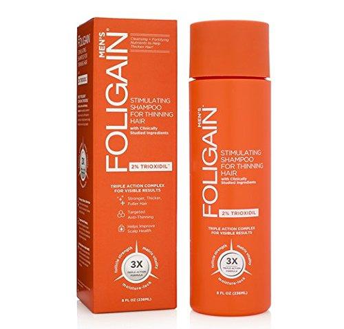 FOLIGAIN Champú de triple acción para cabellos delgados para hombres con trioxidil al 2% - 236 ml
