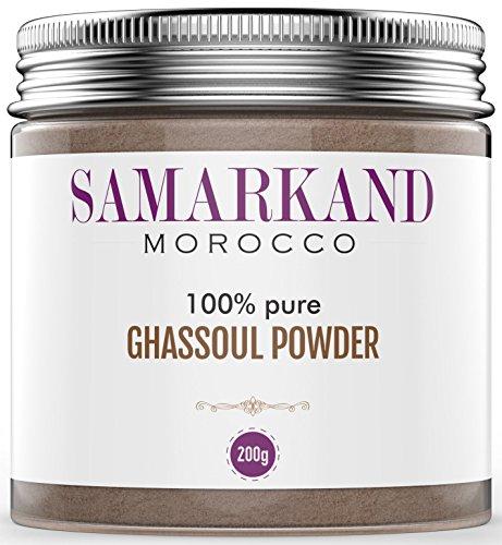 Ghassoul Clay Powder (Rhassoul) Samarcanda - Máscara facial y para el pelo 100% BIO Original de Marruecos 200 g