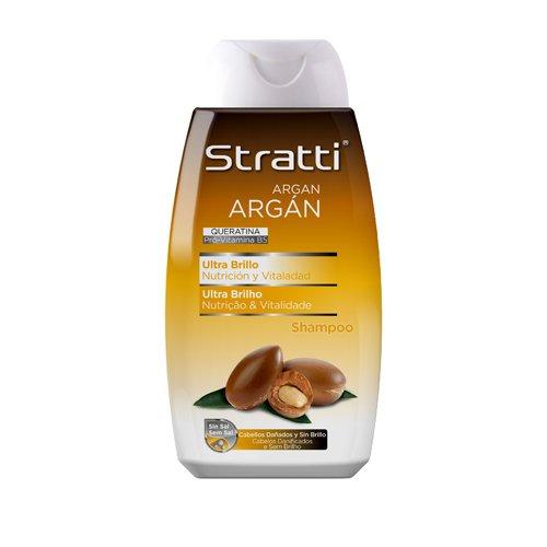 Stratta Argan - Champú ultra brillante con queratina, sin sal - 400 ml