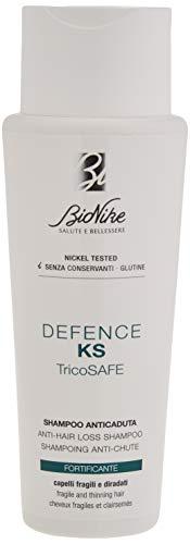 Champú anti-pérdida de cabello Bionike Defense KS Tricosafe para cabellos frágiles y delgados, limpieza delicadamente y fortalece el cabello restaurando el equilibrio del cuero ...