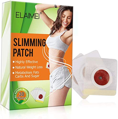 Adhesivo para adelgazar, parche Slim Wonder [30 pezzi] adhesivo para adelgazar, quemador de grasa del vientre, seco a la cintura, grasa abdominal para la cintura, adelgazar y ...