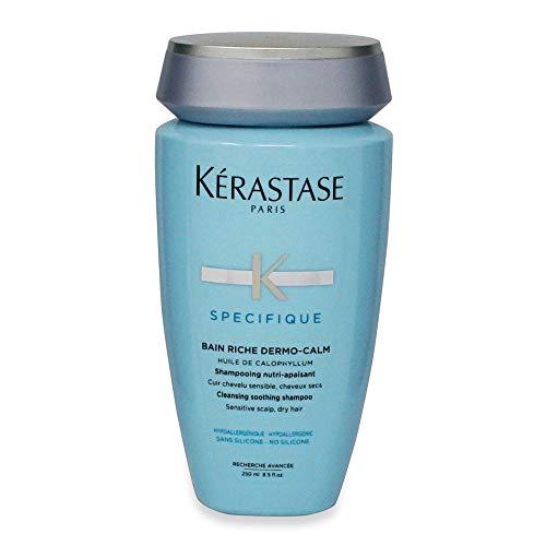 Kérastase SPÉCIFIQUE - Bain Riche Dermo-Calm - Champú nutritivo para la irritación del cuero cabelludo y el pelo seco, 1 x 250 ml