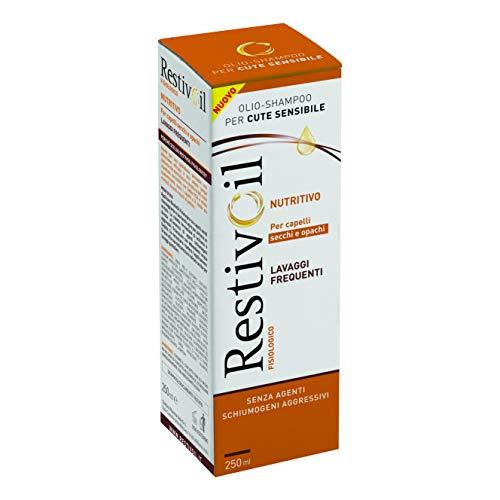 Champú nutritivo fisiológico RestivOil para cabellos, aceite fisiológico con protección hidratante y reparadora, para cabellos secos y apagados, 250 ml