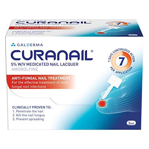 Tratamiento de uñas hongos curanail una vez a la semana 5% 3 ml