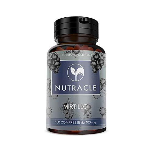 NUTRACLE arándano 100 comprimidos de 400 mg |  Ayuda a la microcirculación y el bienestar de la visión |  Rico en vitaminas y nutrientes