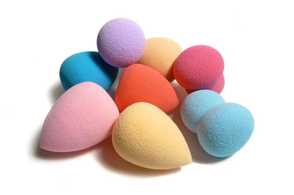 Esponjas de maquillaje para aplicar base de crema