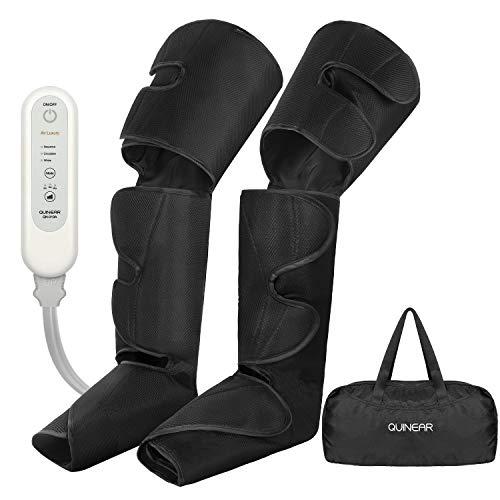 Masajista de circulación de piernas Quine, masajistas eléctricos por compresión de aire para dolor de muslos, terneros y pies, masaje de venas y terapia de relajación con ...