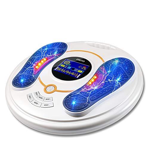 Masajista de pies eléctrico, máquina de masaje de pies 25 modos de masaje 99 Intensidad ajustable para la circulación sanguínea que alivia el dolor articular ...