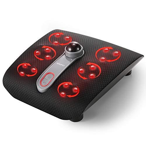 Naipes Deep Shiatsu Masaje de masaje de pies, 18 nudos de masaje, función de calor, controles táctiles y diseño ergonómico