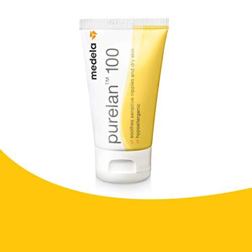 Medela Purelan 100 Lanolina Crema para pezones, 37 g, Cuidado del pecho, grietas, Hidratación, Cuidado natural, Hipoalergénica
