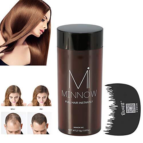 Fibras para el cabello, polvo para el pelo Minnow 4 tipos Mujeres Hombres Corrector para la calvicie Engrosamiento de las fibras para la construcción del cabello en polvo ...