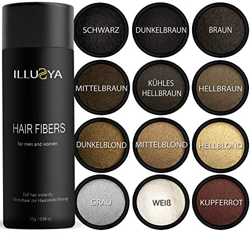 ILLUSYA - Polvo de pelo, fibra para el pelo, fibras para el cabello Cabello de algodón, solución profesional para la pérdida de cabello para productos para mujeres y hombres ...