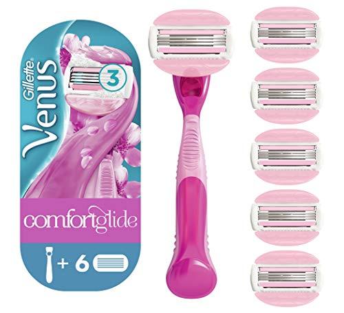 Gillette Venus Spa Breeze 2 en 1 navaja + 6 hojas de repuesto con barras de hielo para la depilación, paquete especial