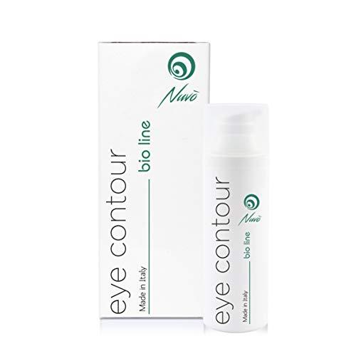 Nuvo '72% Tornillo Slime Crema contorno de ojos orgánica certificada con ácido hialurónico Aceite de semilla de uva Vitamina E - Botella máxima 30 ml contra bolsas Círculos oscuros ...