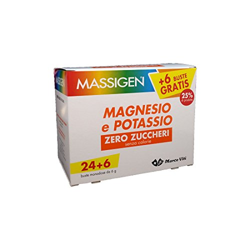 Massiges Magnesio y Potasio Zero Azúcar 24 bolsas + 6 Om