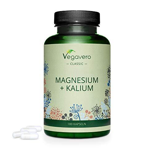 MAGNESIO y Potassium Vegavero®    180 cápsulas    Forma CITRATO: el mejor    SIN ADITIVOS    vegano
