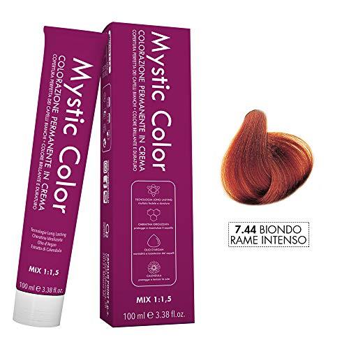 Mystic Color - Color rubio intenso de cobre 07:44 - Color de cabello - Color crema duradera profesional - Con queratina hidrolizada, aceite de argán y ...