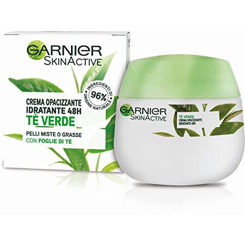 Crema facial hidratante matificante Skinactive Garnier, ideal para pieles mixtas o grasas, enriquecida con té verde, 50 ml