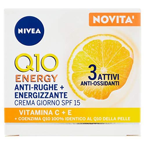 NIVEA Q10 PLUSC Crema de día energizante facial antiarrugas SPF 15, 50 ml
