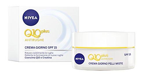 Nivea Q10 Power Crema de día para suavizar antiarrugas SPF15, con coenzima Q10, creatina, extractos de algas marinas - 50 ml
