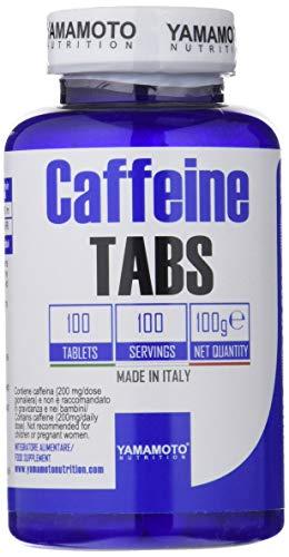 Yamamoto Nutrition Caffeine TABS suplemento alimentario de vitamina B1 y cafeína 100 comprimidos