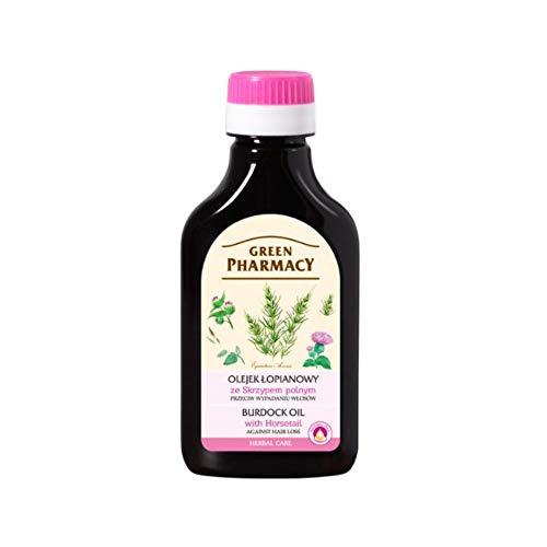 Aceite de raíz de bardana natural con onagra para el cabello y el cuero cabelludo estimula el rebrote, la fuerza, la salud y el espesamiento - 100 ml