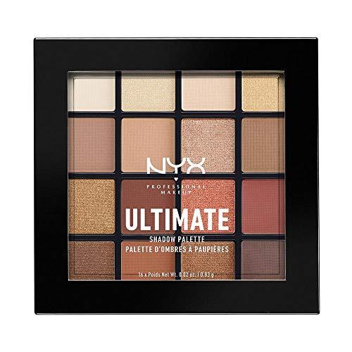 Maquillaje profesional NYX, última paleta de sombras de sombras, pigmentos prensados, 16 tonalidades, mate, satinado, metálico, tonalidades: neutros cálidos