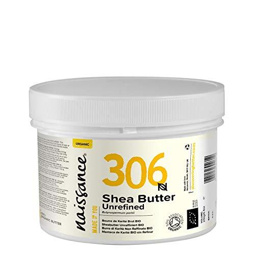 Naissance Organic Karité Butter 250g - Puro y natural, certificado orgánico, hecho a mano, vegano y sin fragancias - Producido en un ...