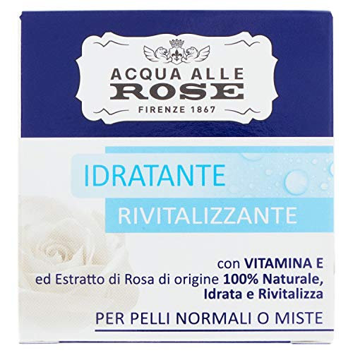 Crema facial hidratante Acqua alle Rose, piel normal o combinada, 50 ml