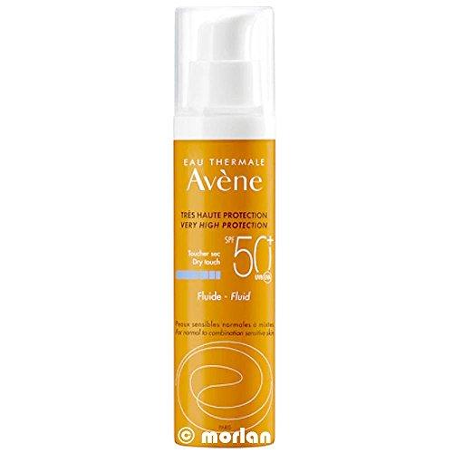 Avene Protección solar Fluido facial sin fragancia SPF50 + Piel sensible 50 ml