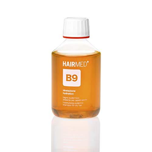 HAIRMED - Champú hidratante profesional B9 - Champú hidratante para cabellos marinos y después del sol - 200 ml