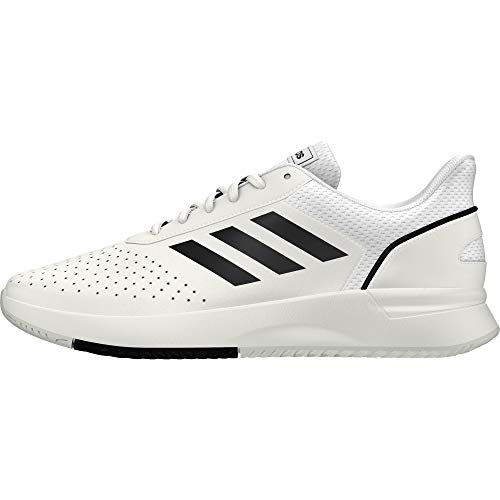 adidas COURTSMASH, zapatos de tenis para hombre, Ftwr White / Core Black / Grey Two F17, 45 1/3 EU