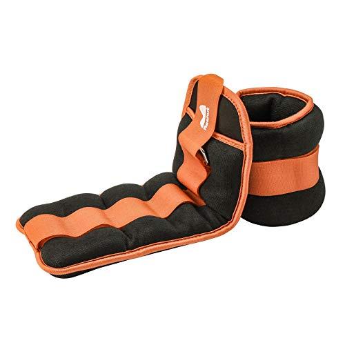 Pesos de muñeca / muñeca REEH (1 par) con correa ajustable para hacer ejercicio, hacer ejercicio, caminar, trotar, hacer gimnasia, aeróbic, gimnasio - naranja -...