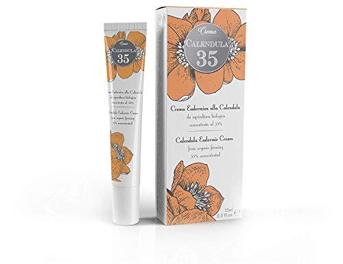 Dulac - Crema Eudérmica de caléndula - 15 ml - LA MÁS CONCENTRADA - Para el cuidado de la piel - con pantenol y vitamina F - 100% Hecho en España - Caléndula 35
