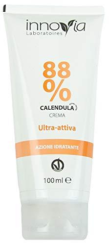 Crema de caléndula 88% - 100 ml - Apta para quemaduras, escaldaduras, irritaciones, prurito y dermatitis - Perfecta para pieles sensibles y delicadas ...