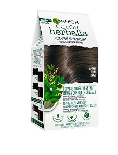 Color Garnier Herbaria, color permanente del cabello, 100% vegetal con henna, índigo y cassia para reflejos naturales y brillantes, revitalizado y ...