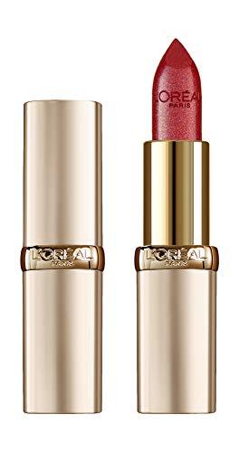 L'Oréal Paris Make Up Labios de labios de larga duración Color Riche, a todo color, acabado satinado, vidrio cereza 345, 1 paquete