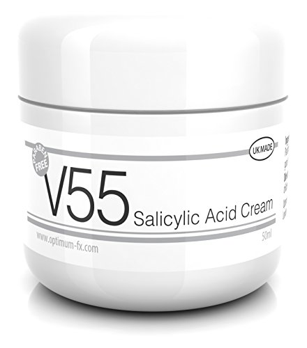 V55 Crema de ácido salicílico para puntos negros bull puntos y parabenos sin problemas de la piel 50 gramos