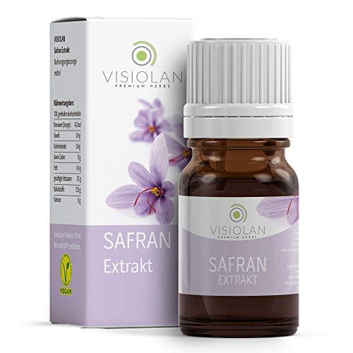 VISIOLAN - Extracto de azafrán 15ml - gotas de azafrán puro, extracto líquido concentrado, azafrán real de campos propietarios, ingredientes de ...