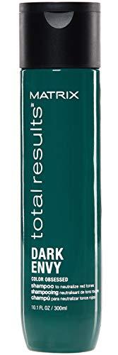 Matrix - Resultados totales Champú anti rojo neutral para envejecer oscuro para cabellos oscuros, 300 ml
