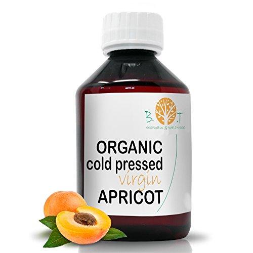Aceite de albaricoque virgen extra nativo orgánico Aceite de núcleo de albaricoque 100% puro aceite de bronceado prensado en frío después del sol Aceite para bebés Aceite para cutículas de uñas Cara, ...