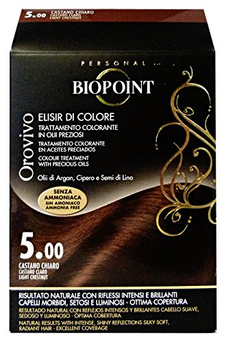 Color de pelo Biopoint Orovivo (tono marrón claro 5,0) - 60 ml.