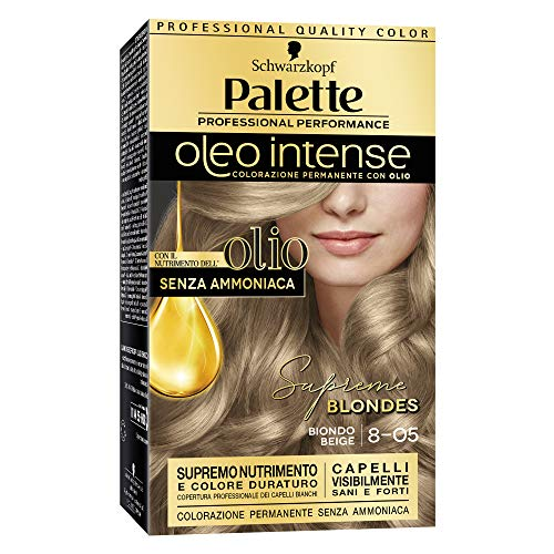 Schwarzkopf Palette Profesional Performance Oil Intenso, Color permanente con aceite, Color de pelo sin amoniaco, Cobertura del cabello blanco, ...