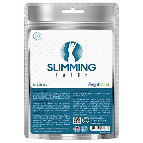 Parches de adelgazamiento WeightWorld Hershley, parches adhesivos con Garcinia, Fucus, guaraná y cafeína para la pérdida de peso, quemadores de grasas y aumenta el metabolismo ...