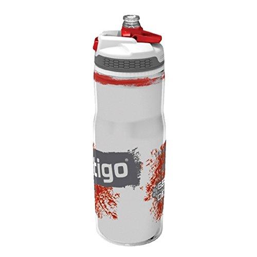 Contigo Devon Aislado, botella de hidratación para adultos, roja, 22 oz (650 ml)